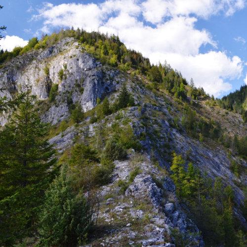 Obiectiv turistic Scărișăara - canion foarte îngust și priveliști spectaculoase de pe stânci.