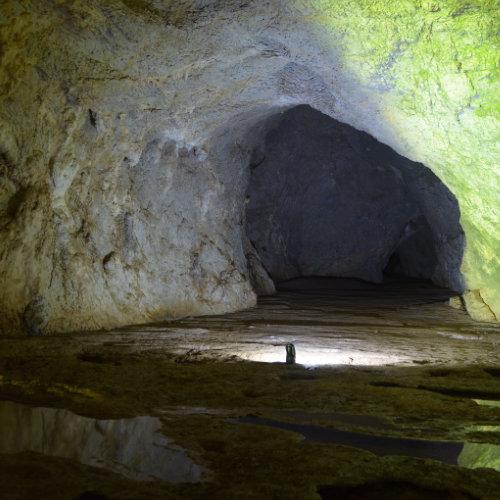 Peșteră cu portal gigantic aflată pe Valea Sighiștelului la 25 de kilometri de Arieșeni.
