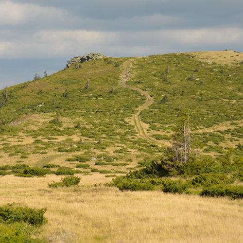 Panoramă superbă de pe Curcubăta Mică spre Țara Moților - de la Avram Iancu la Horea și Arieșeni.
